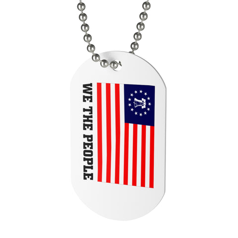 CAUTION LINE Premium Apparel We The People Liberty (Full Color) Dog Tag