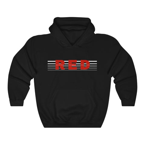 CAUTION LINE Premium Apparel RED - Retired Extremely Dangerous Unisex Heavy Blend™ Hooded Sweatshirt