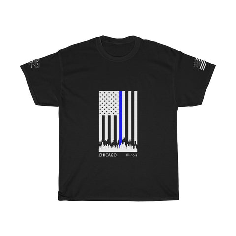 CAUTION LINE Premium Apparel Thin Blue Line Chicago Tee (W)