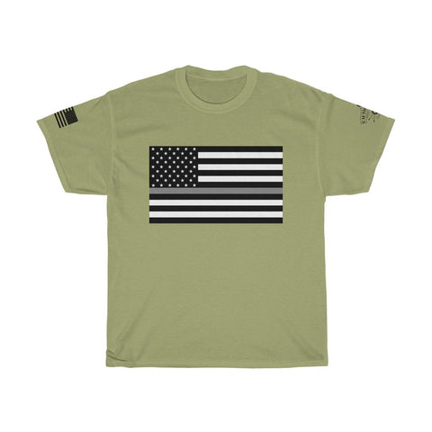 CAUTION LINE Premium Apparel Thin Gray Line Tee