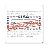 CAUTION LINE Premium Apparel Unconstitutional USA Freedom Act Magnet