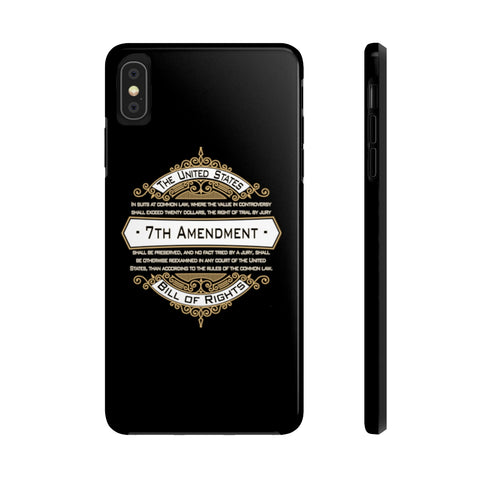 CAUTION LINE Premium Apparel Case Mate Tough Phone Cases - 7th Amendment