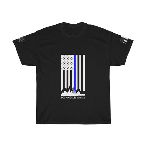 CAUTION LINE Premium Apparel Thin Blue Line Los Angeles Tee (W)