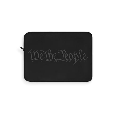CAUTION LINE Premium Apparel Laptop Sleeve - We The People Subdued Gray (Black Sleeve)