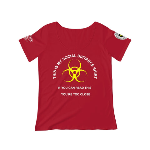 CAUTION LINE Premium Apparel Women's Social Distance Tee