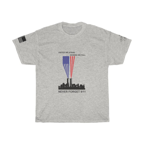 CAUTION LINE Premium Apparel Never Forget 9/11 - United We Stand Tee