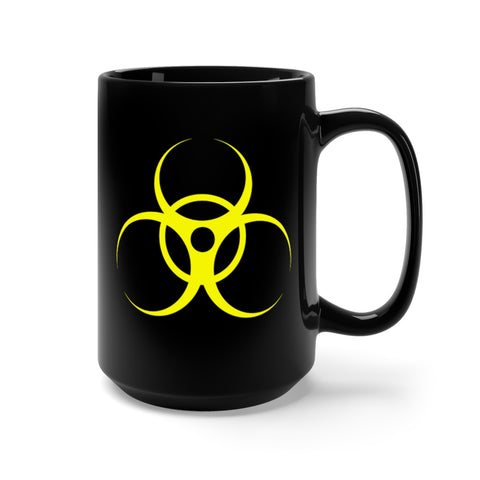 CAUTION LINE Premium Apparel Biohazzard Yellow Design Mug 15oz