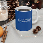 We The People Mug - 11oz - White / Blue