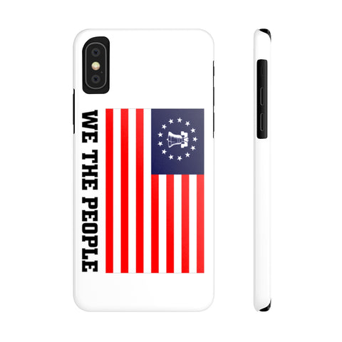CAUTION LINE Premium Apparel We The People iPhone XS Slim Phone Cases - Mate Full Color