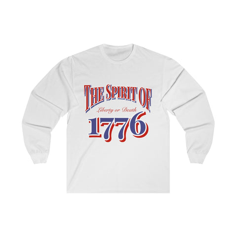 CAUTION LINE Premium Apparel The Spirtit of 1776 Long Sleeve Tee