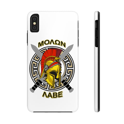 CAUTION LINE Premium Apparel Case Mate Tough Phone Cases - Molon Labe Color