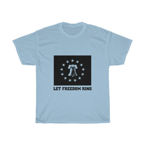 CAUTION LINE Premium Apparel Let Freedom Ring Cutout Tee