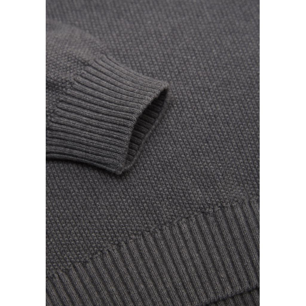 1c9c4cb13b8 Knowledge Cotton Apparel Organic Knit Dark Grey Melange