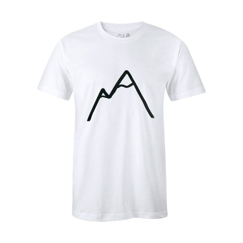 6d32c20d Level Collective Simple Mountain Organic White T-shirt
