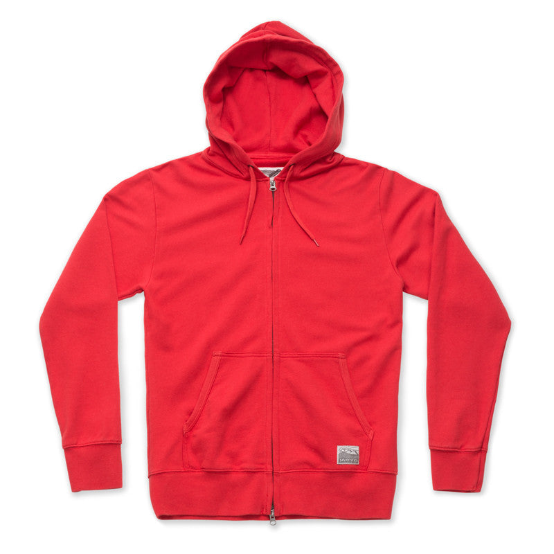 9179fbeffc Silverstick Midweight Organic Cotton Zip Hoodie in Red | Brothers We Stand