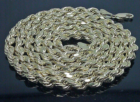 10k Gold Rope Chain For Men