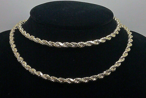 Real 10k Yellow Gold Rope Chain
