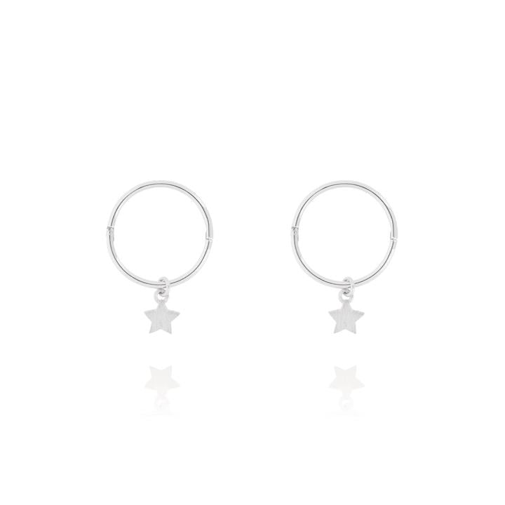 Tiny Star Sleeper Hoop Earring-Linda Tahija-m a g n o l i a | home