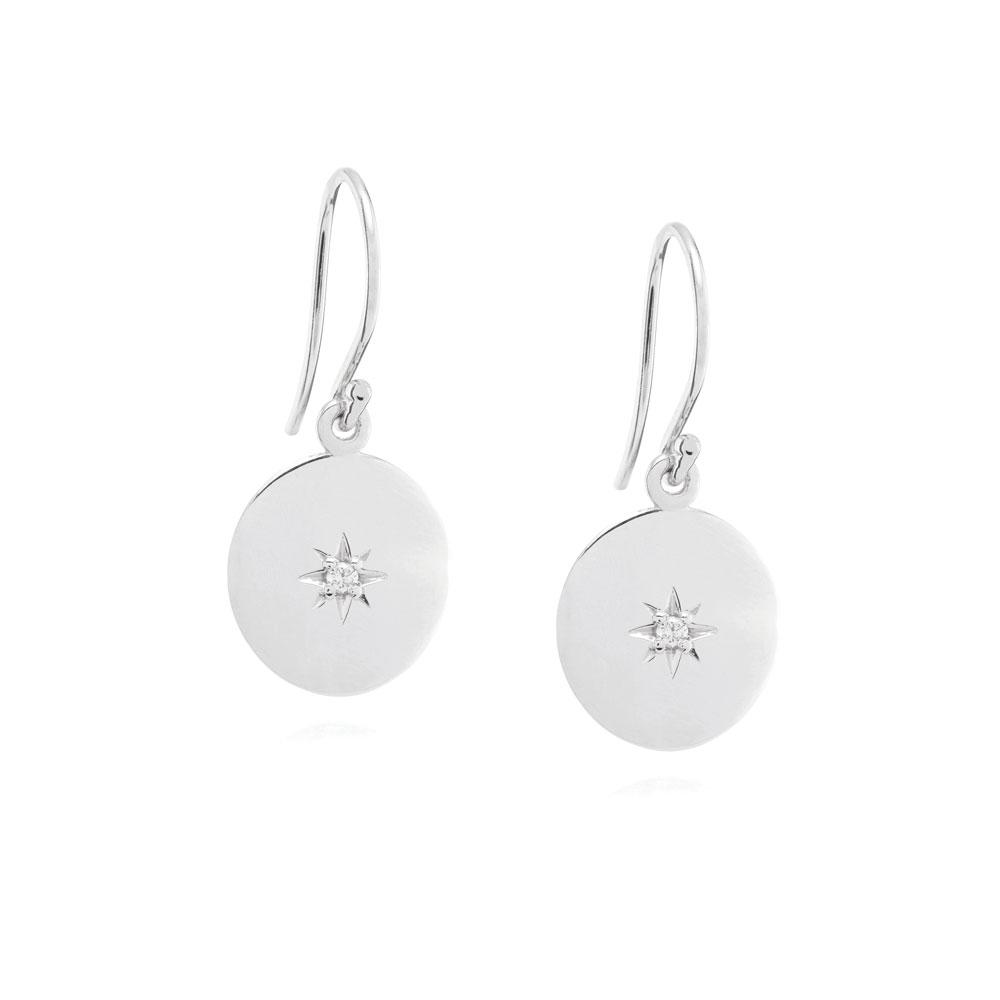 North Star Disc Earring-Linda Tahija-m a g n o l i a | home