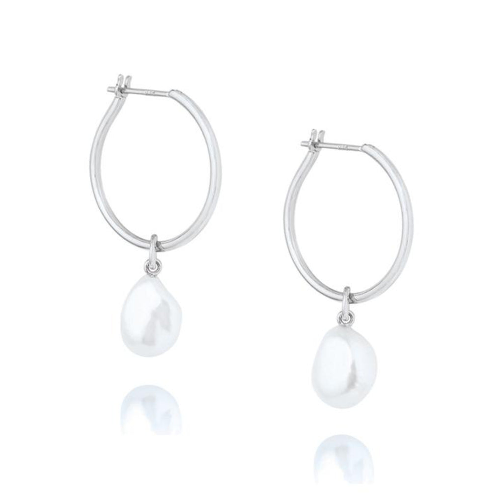 Baroque Pearl Willpower Hoop Earring