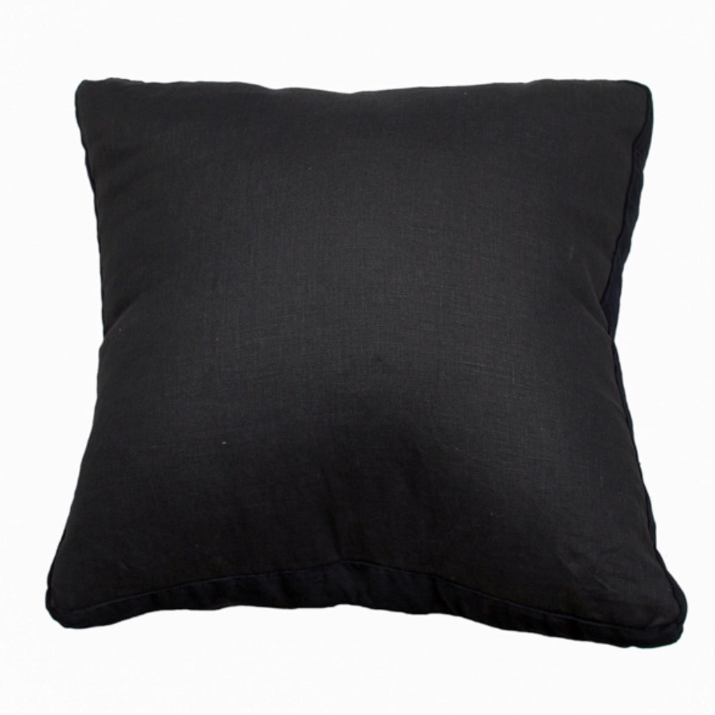 Essential Charcoal Linen Velvet Cushion