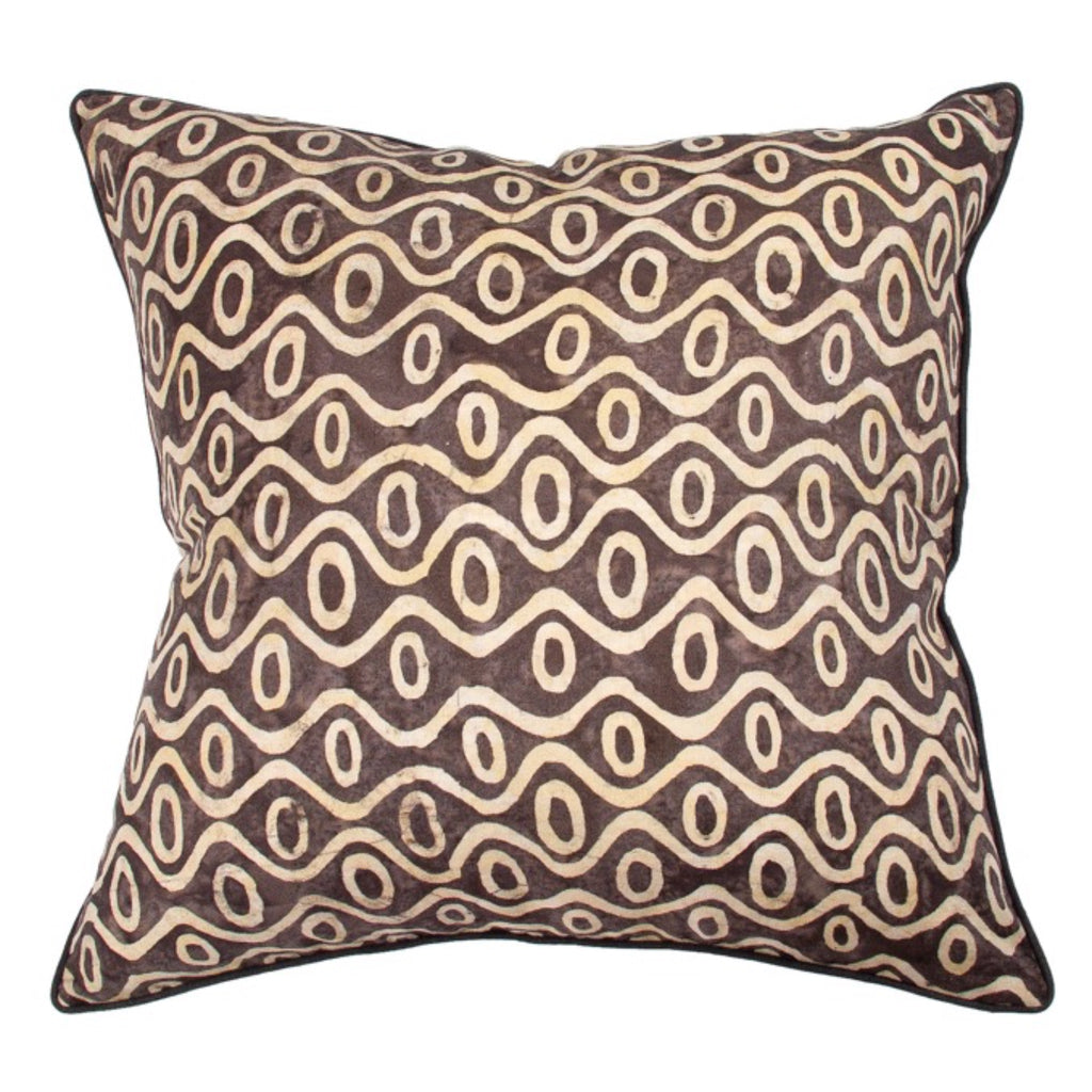 Husk Waves Linen Cushion