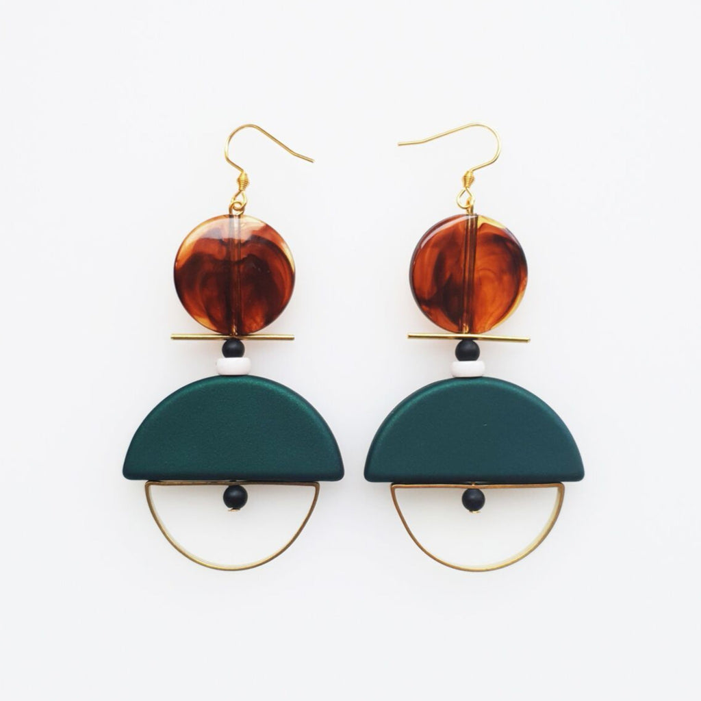 Diego Earring | Green