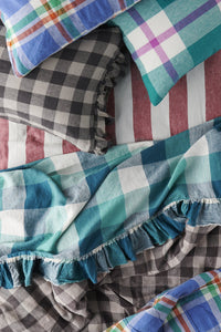 Licorice Gingham Pillowcase set
