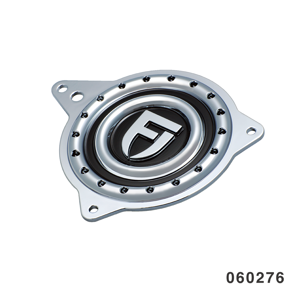 DIMPLE SPORTSTER SPROCKET COVER CHROME