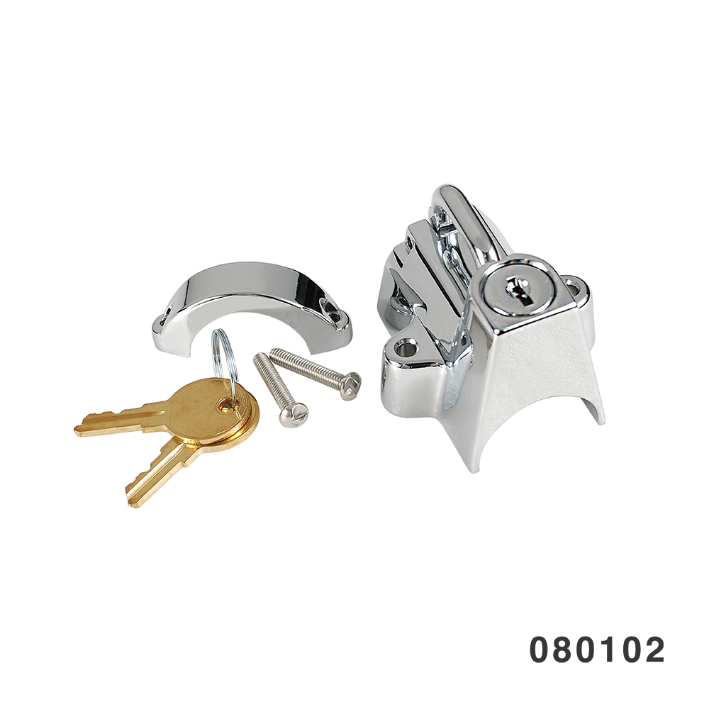UNIVERSAL MOUNT HELMET LOCK CHROME