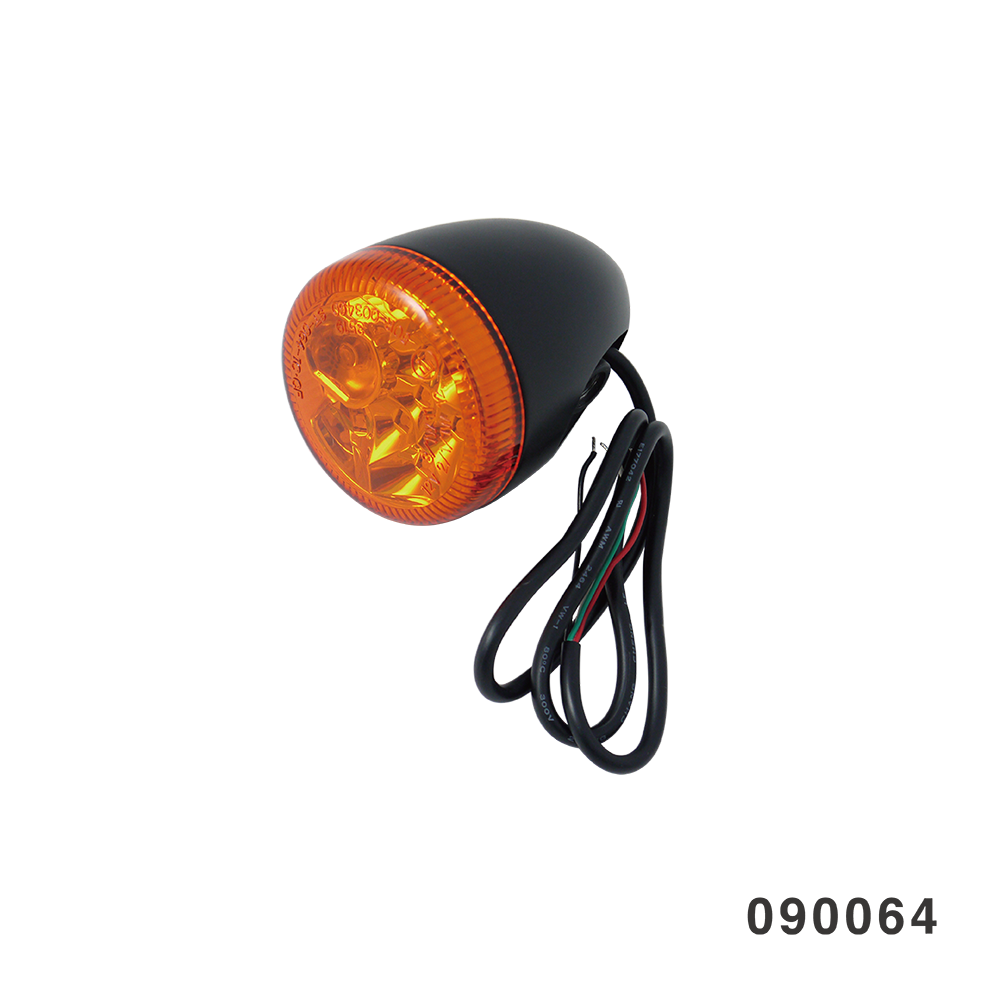 3 IN 1 LED TURN SIGNAL COMBO BLACK W/ AMBER LENS HOLLOW