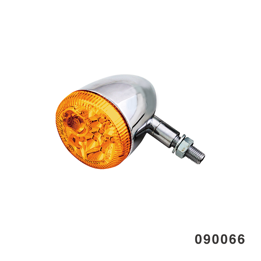 3 IN 1 LED TURN SIGNAL COMBO CHROME WITH AMBER LENS STUD STYLE