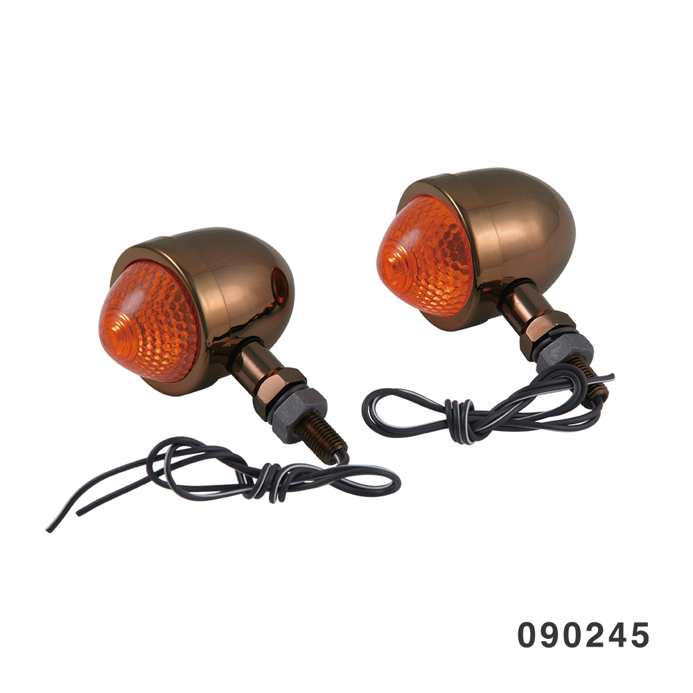 EGG TURN SIGNAL FANGSTER GOLD AMBER LENS