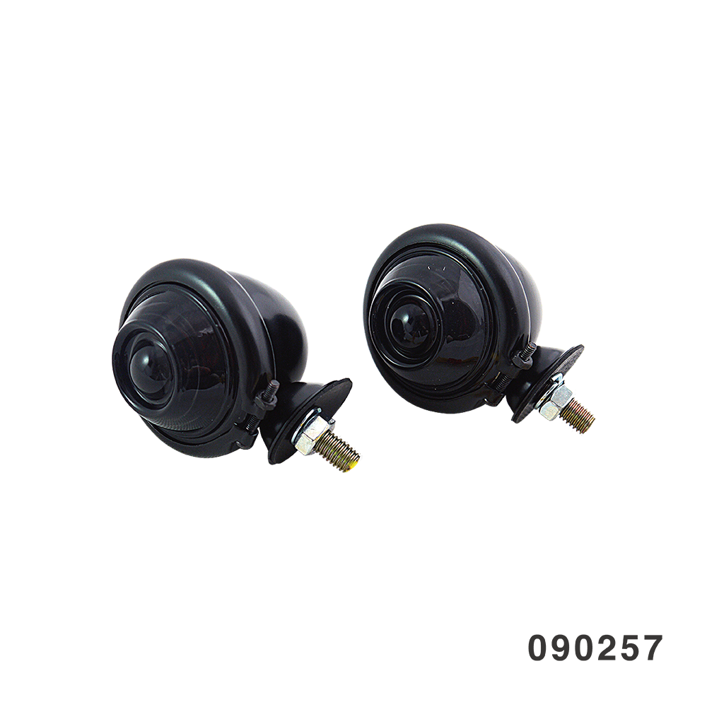BATES TURN SIGNAL BLACK W/ SMOKE LENS