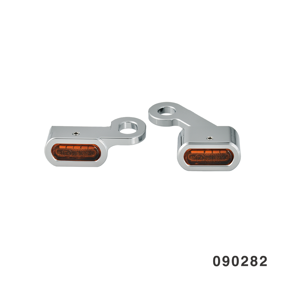 LED HANDLEBAR MARKER LIGHTS CHROME AMBER 04 SPORTSTER