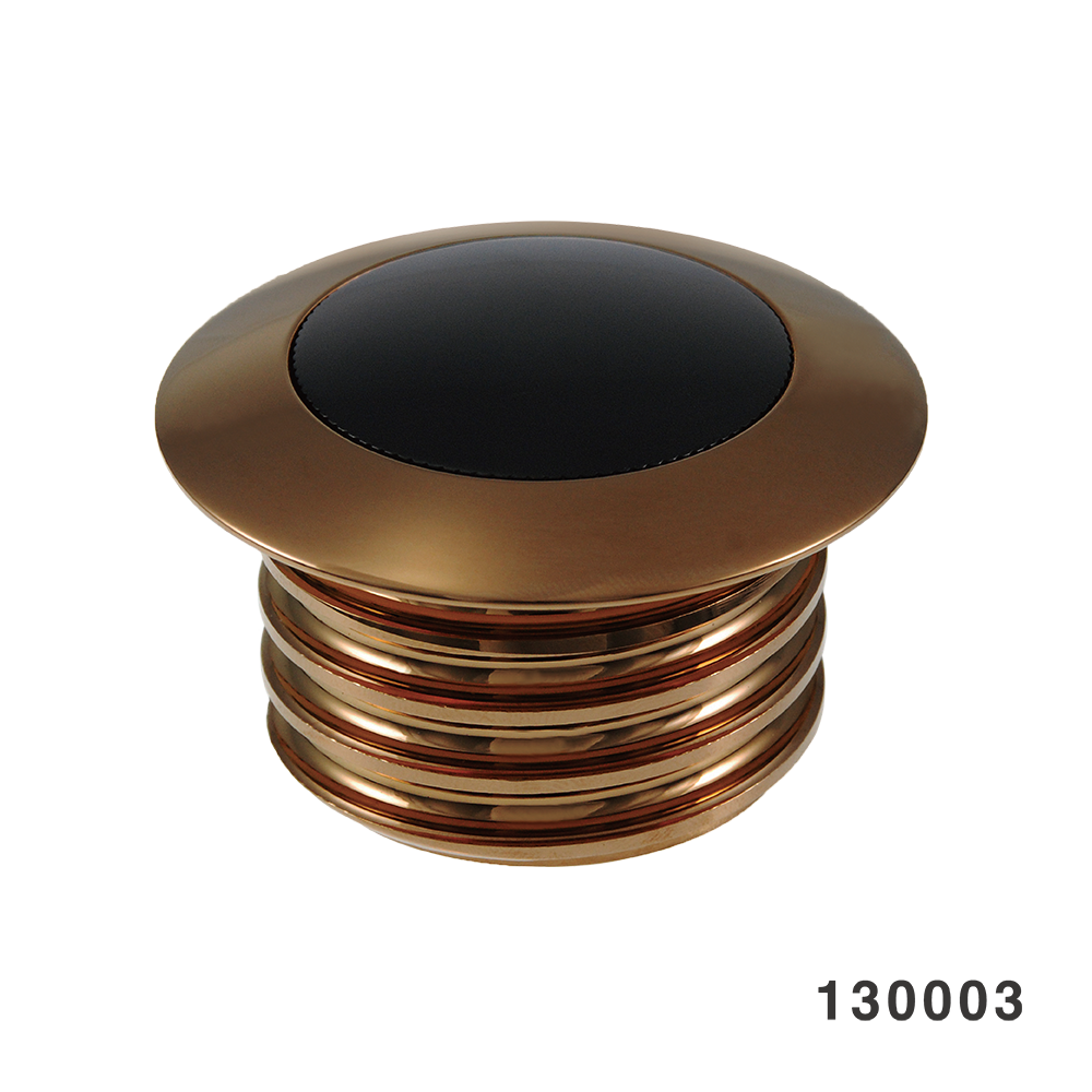 POP-UP GAS CAP BLACK WITH F.GOLD