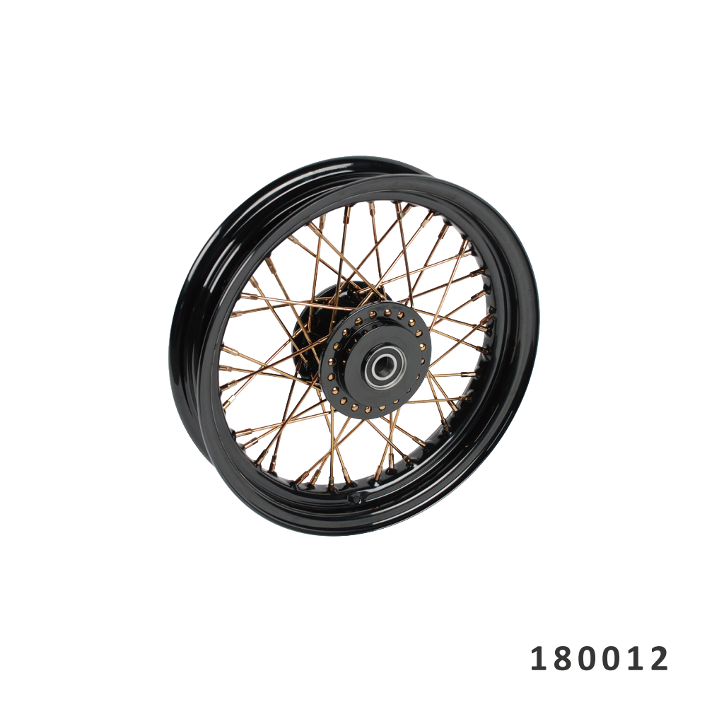 "FANGSTER GOLD SPOKE FRONT WHEEL 16"" X 3.0"""