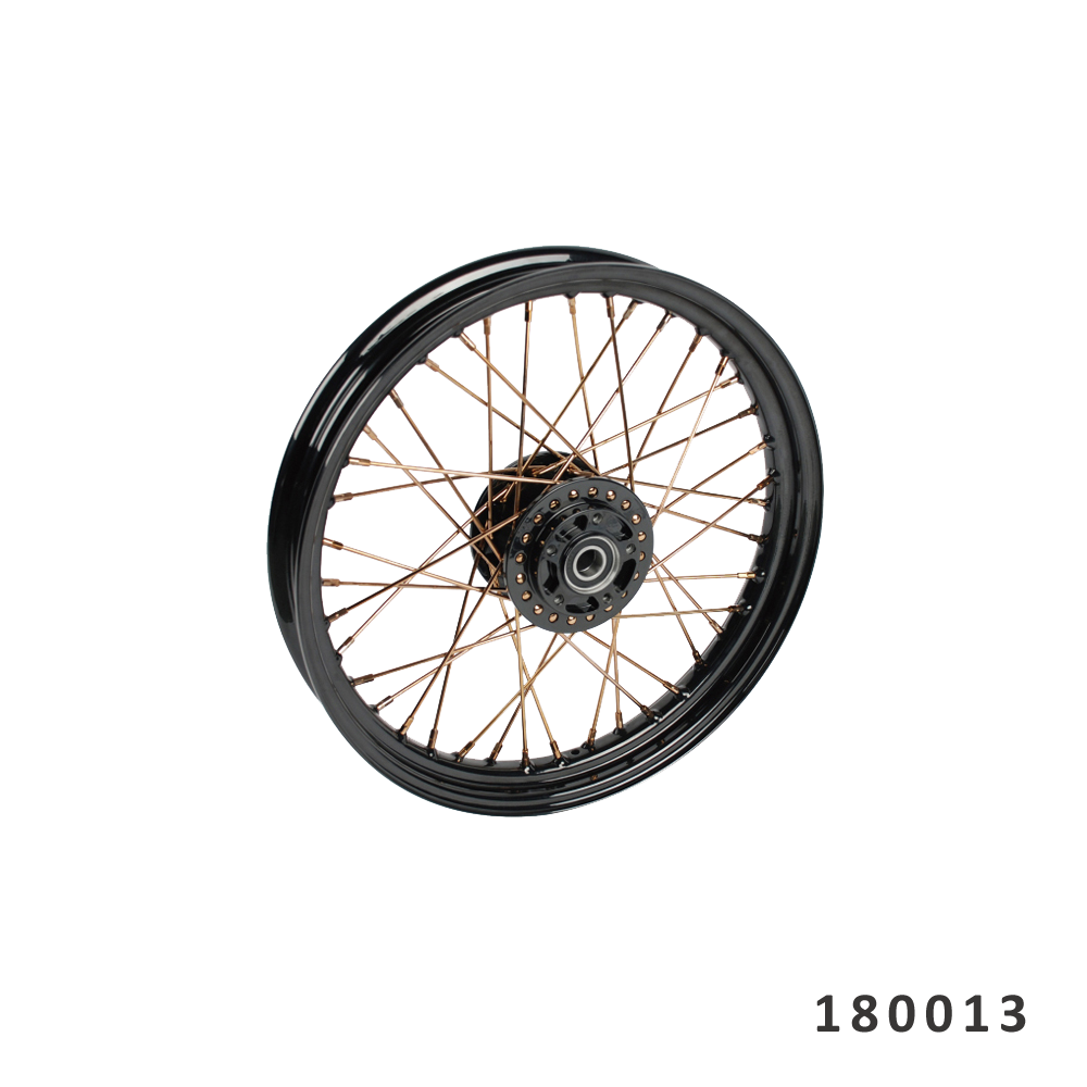 "FANGSTER GOLD SPOKE FRONT WHEEL 19"" X 2.5"""