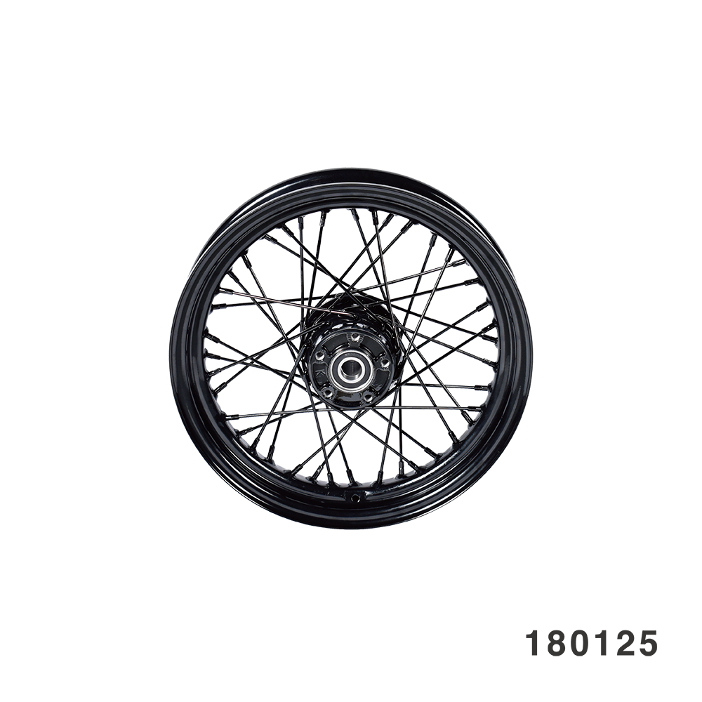 "FANGSTER BLACK SPOKE REAR WHEEL REAR 16"" X 3.0"" BLACK SPOKE"
