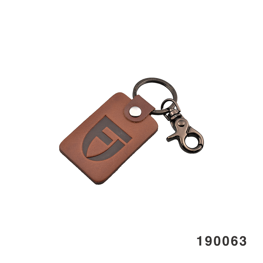 FANGSTER KEY RING DARK BROWN