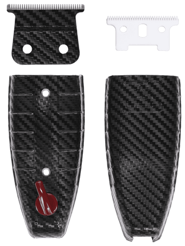 Custom Clipper Lid Bundle (Designed for Andis T-Outliner) Carbon Fiber Black