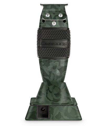 Green Camo Custom Andis Cordless T-outliner with Ceramic Blade & Clipper Grip Omnicord Inc.