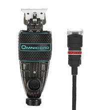 Image of Omnicord Custom T-outliner with Ceramic Blade - SkinFx Carbon Fiber Teal Custom Clipper Omnicord Inc.