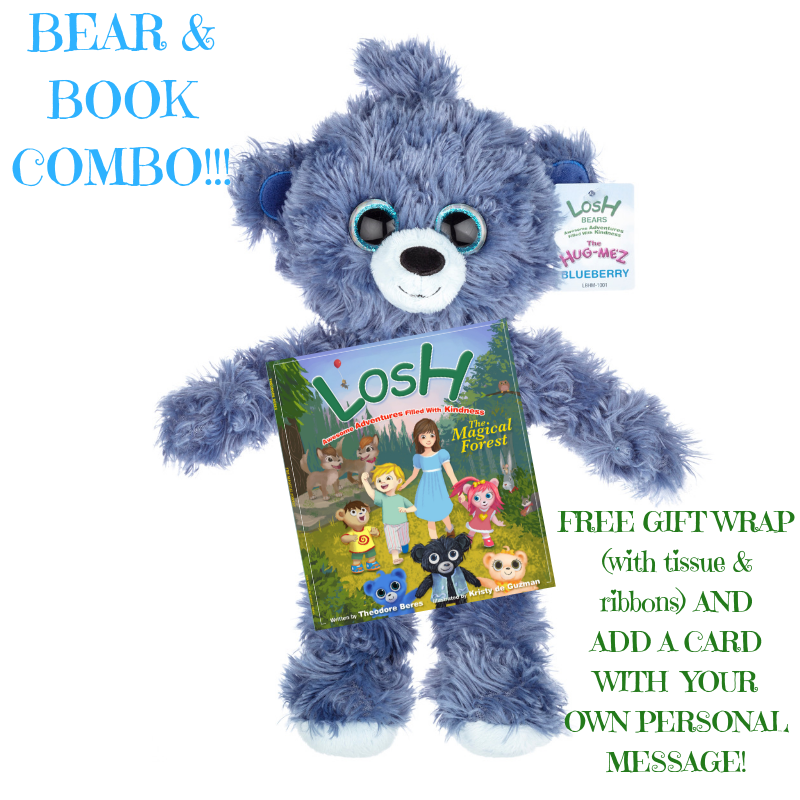 BEAR & A BOOK COMBO SPECIAL!! *FREE GIFT WRAPPING & EVENT CARD**