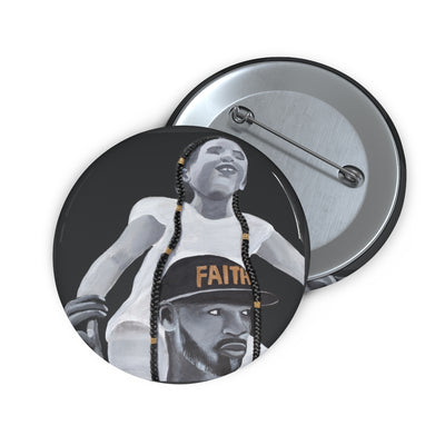 Faith Over Fear 1D Button W/O Hair