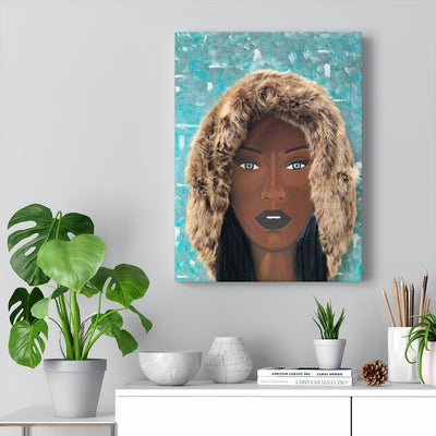 """Black Ice"" Premium Canvas"