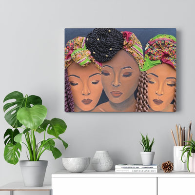 """Curl Friends II"" Premium Canvas"