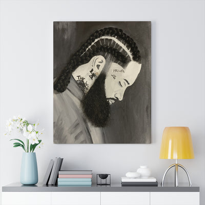 Nipsey 1D Canvas Print (No Hair)