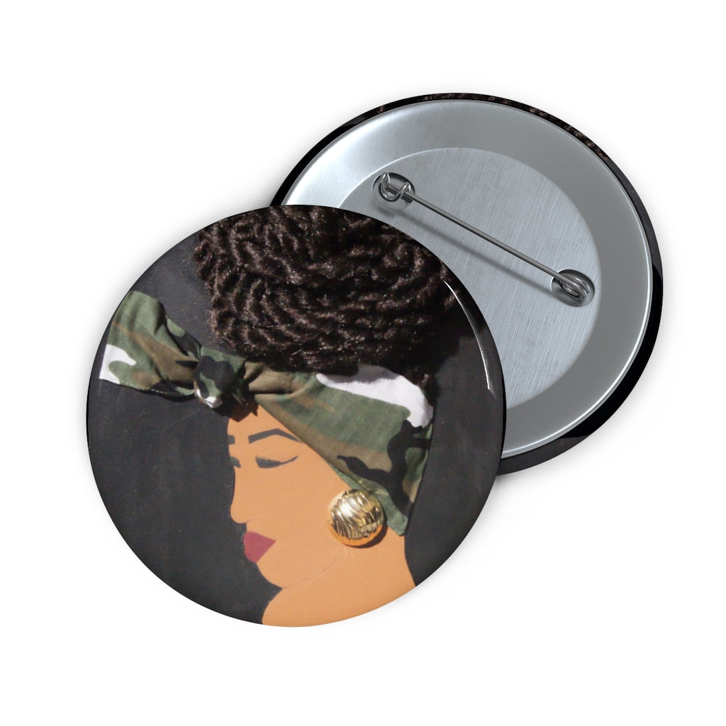 Bun Life Camo 1D Button W/O Hair
