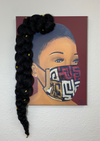 """Corona"" - 3D Canvas Print (With Hair)"